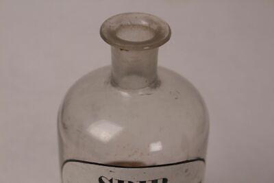 Apotheker Flasche Medizin Glas Spir. Meliss. Cps. antik Deckelflasche Gefäß 20cm 5