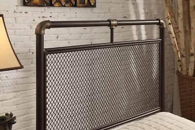 Modern Vintage Industrial Scaffold Style Metal Bed Frame Single Double King Size 4