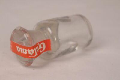 Apotheker Flasche Medizin Glas Saccharum amylaceum antik Deckelflasche Email 11