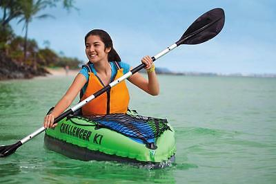 Canoa gonfiabile Intex 68305 Challenger K1 1 persona remi pompa Kayak - Rotex 2