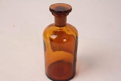 Apotheker Flasche Medizin Glas Tinct. Amara antik Deckelflasche 15 cm Gefäß 7