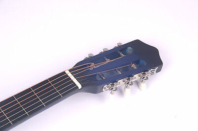 Electric Acoustic Guitar Cutaway Design With Guitar Case, Strap  Blue New 3