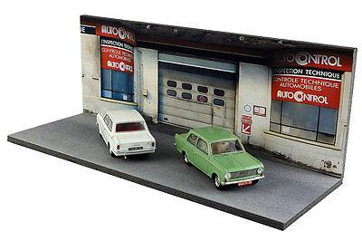 Diorama Garage contrôle technique - 1/43ème - #43-2-D-D-018 10