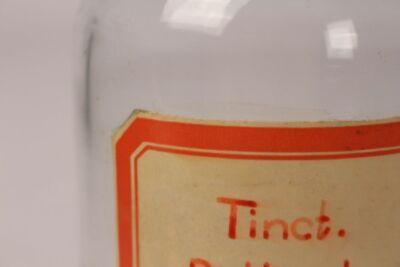 Apotheker Flasche Medizin Glas Tinct. Belladonn. antik Deckelflasche Gefäß 20cm 3
