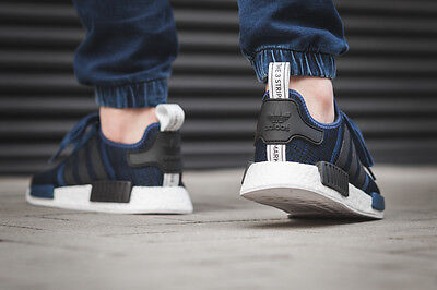 new products 62d06 95657 ... Adidas NMD R1 Mystery Blue Nomad Collegiate Navy New Men Size 7.5-13  (BY2775