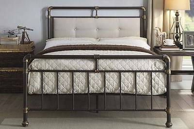 Vintage Industrial Scaffold Style Metal Bed Frame Single / Double / King Size 4