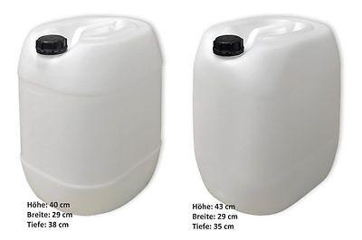2x Leerkanister Kunststoffbehälter natur Kanisterdeckel Ausgießer flexibel  lang 5