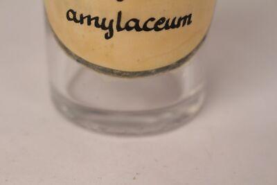 Apotheker Flasche Medizin Glas Saccharum amylaceum antik Deckelflasche Email 5
