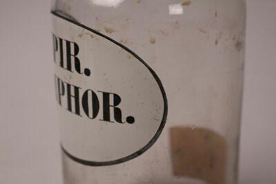 Apotheker Flasche Medizin Glas spir. Camphor. antik Deckelflasche Gefäß 20 cm 4