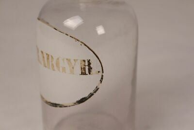 Apotheker Flasche Medizin Arznei Glas Hydrargyr. antik Deckelflasche Emaille 4