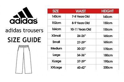 Adidas Tracksuit Bottoms Pants Martial Arts Jogging Sports Trousers Kids Mens 9
