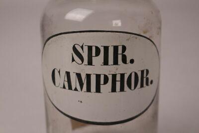 Apotheker Flasche Medizin Glas spir. Camphor. antik Deckelflasche Gefäß 20 cm 2