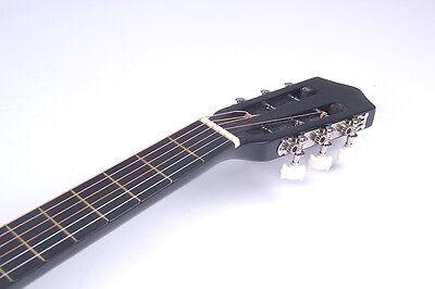 "38"" Acoustic Guitar Bundle Instrument Design With Guitar Case, Strap  Black New 6"