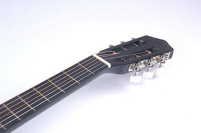 Electric Acoustic Guitar Cutaway Design With Guitar Case, Strap  Black New 6