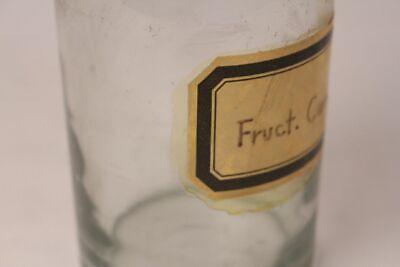 Apotheker Flasche Medizin Glas groß Fruct. Carri antik Deckelflasche 17 cm 3
