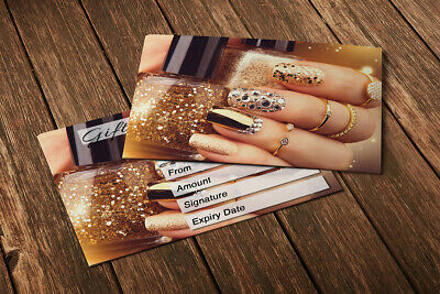 Gift Voucher Card Beauty Manicure Pedicure Nails Therapy Treatment - x10 +Env. 2