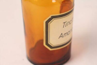 Apotheker Flasche Medizin Glas Tinct. Amara antik Deckelflasche 15 cm Gefäß 4