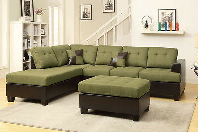 4 Of 5 Sectional Sofa Contemporary Sectionals Couch Chaise Corner Couches  Free Ottoman