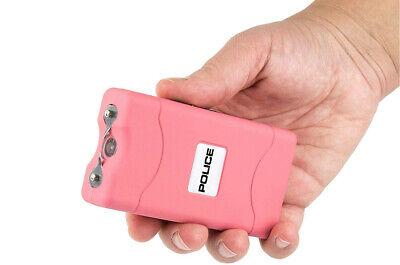 POLICE Stun Gun 800 Pink Mini Rechargeable LED Flashlight 3
