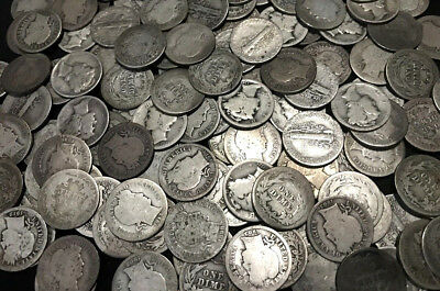 ✯ Old U.S. SILVER Estate Coin Lots ✯ Mercury Dime Barber Dime ✯ Antique Vintage✯