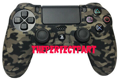 Camo Silicone Rubber Skin Case Gel Cover Grip for Playstation 4 PS4 Controller 2