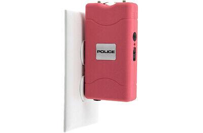 POLICE Stun Gun 800 Pink Mini Rechargeable LED Flashlight 7