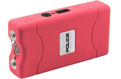 POLICE Stun Gun 800 Pink Mini Rechargeable LED Flashlight 5
