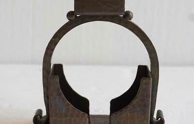 Antique American Roycroft Arts and Crafts Hammered Copper Match Holder c. 1915 9