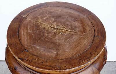 Antique Chinese Late Qing Elm Round 6-Leg Pedestal / Plant Stand 5