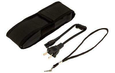 POLICE 916 Stun Gun Rechargeable With LED Flashlight Safety Pin + Holster Case 8