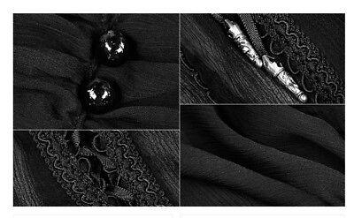 Top haut gothique lolita baroque manche bouffante voilage lacé fashion PunkRave 5