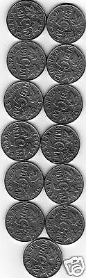 Rare Canada Set 13 King George V Era 5 Cent Coins All Different Years. 2