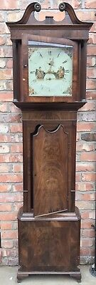 Antique 8 Day Mahogany Longcase Grandfather Clock J. BEECROFT LITTLE LEIGH