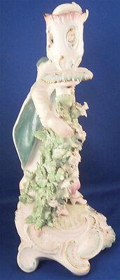 Antique 18thC Derby Porcelain Figural Lady Candlestick Porzellan Kerzenhalter 7
