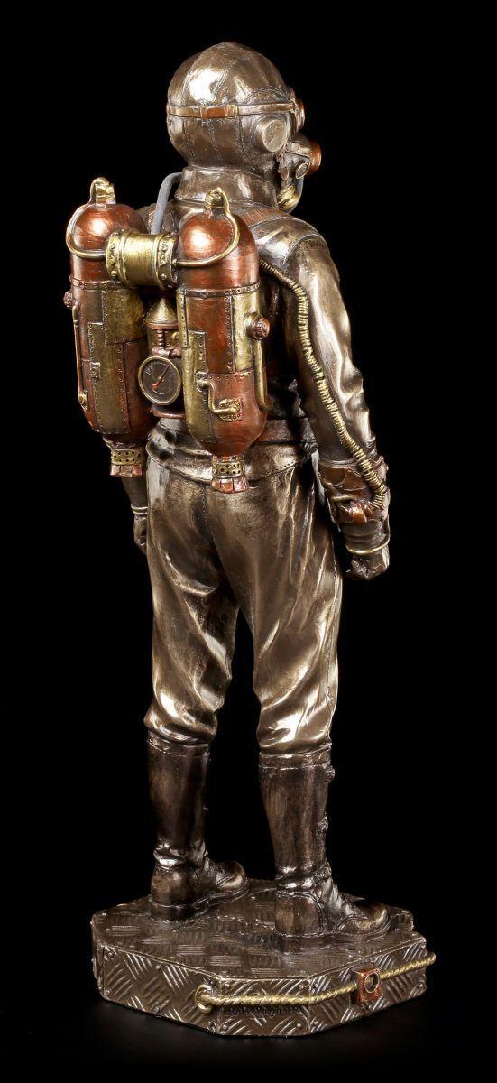 steampunk figur soldat mit gasmaske veronese fantasy deko gothic eur 61 95 picclick de. Black Bedroom Furniture Sets. Home Design Ideas