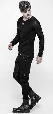 T-shirt haut gothique punk destroy laçages colonne vertébrale PunkRave Homme