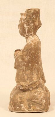 Chinese Han Dynasty 206BC-200AD Terracotta seated Musician 2
