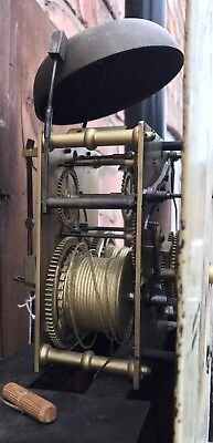 Antique 8 Day Mahogany Longcase Grandfather Clock J. BEECROFT LITTLE LEIGH 10