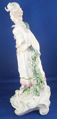 Antique 18thC Derby Porcelain Figural Lady Candlestick Porzellan Kerzenhalter 10