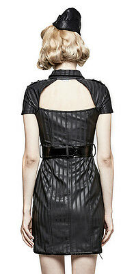 Robe gothique punk lolita pin-up militaire sexy cuir rayures burlesque PunkRave 5