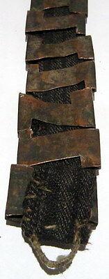 BEAUTIFUL ANTIQUE 1800s.SILVER BRACELET in 9 PARTS,AMAZING FLORAL DECORATION#21C