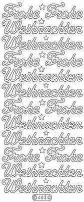 Nr Frohe Weihnachten Rot 463 Stickerbogen Glitzer