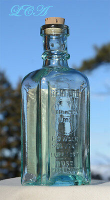 Antique REMINGTON UMC GUN OIL bottle POWDER SOLVENT early hand blown REM - OIL