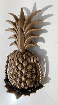 large heavy PINEAPPLE frount Door Knocker SOLID  BRASS old style house banger B 6