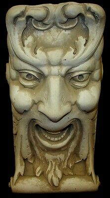 Laughing Face Wall Corbel Bracket Shelf Architectural Accent Home Decor 3