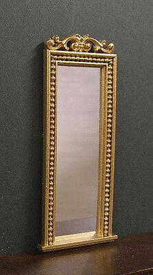 TALL  MIRROR ~ Jim Coates ~  1//12th scale ~  Dollhouse Miniature ~ Room Box