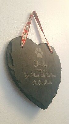 Personalised Slate Pet Memorial Grave (Dog Cat Rabbit Hamster Gerbil Guinea Fish 2