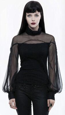 Top haut gothique lolita baroque manche bouffante voilage lacé fashion PunkRave 6