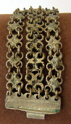 ANTIQUE 1800 s. SILVER KNITTED THREE ROWS LADY BRACELET  #  75A 7