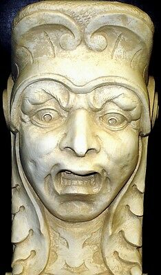 Horror Face Wall Corbel Bracket Shelf Architectural Accent Home Decor 3